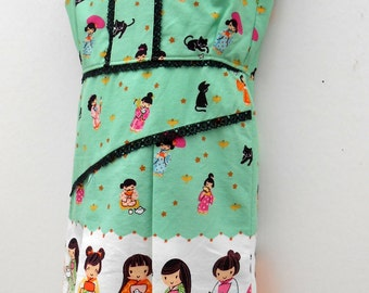 SALE....Girl Toddler Dress...size 1-2.....Handmade in Ireland