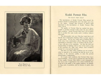 Vintage Early Kodak Film Catalogue 1910s - 1920s Australian Antique Photographic Ephemera Commercial Catalog