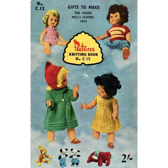 Vintage Knitting Patterns Dolls Clothes Tea Cosies Socks