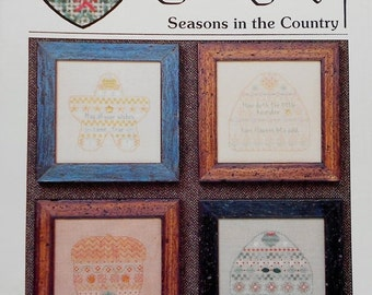 75%OFF Pat Thode Artist Collection SEASONS In The COUNTRY By Heartstrings - Counted Cross Stitch Pattern Chart