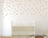 Gold Wall Decals Polka Dots Wall Decor - Confetti Polka Dot Wall Decals Set of 105