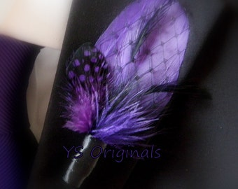 Purple Peekaboo Boutonniere