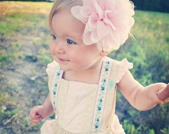 XLl Chiffon Custom Solids Collection on Skinny Elastic - over 100 Different Options - baby girl child woman teen