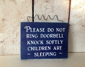 Children Are Sleeping Sign