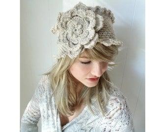 Crochet PATTERN --Victorian Rose Headband (Adult and child sizes)