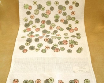 Button Print Stitchable Hand Towel
