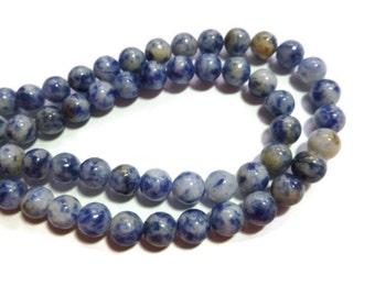 Blue Spot Jasper - 6mm Round - Full Strand - 61 beads