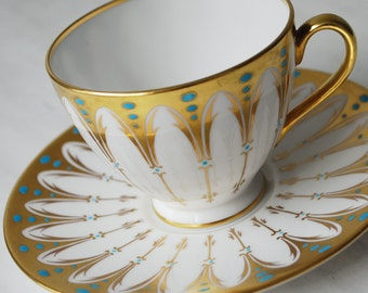 Royal Chelsea Gothic Teacup and Saucer