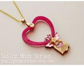 CLEARANCE Sailor Moon Chibiusa Twinkle Bell Inspired Gold Acrylic Necklace for Mahou Kei, Magical Girl Fashion