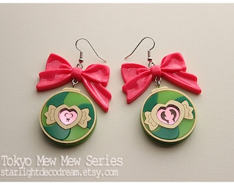 MADE to ORDER Tokyo Mew Mew Inspired Lettuce Lettustanets Acrylic Earrings for Mahou Kei, Magical Girl Fashion
