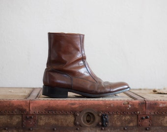 leather ankle boots - 8 men