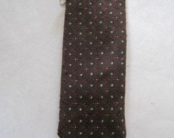 Vintage 1950s 1960s Necktie Skinny Tie Red Black Gray Brown The Carlton Shop Upper Montclair