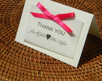 Personalized Thank You Notes printed on Vellum