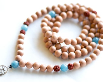 Rosewood Mala Beads with OM pendant