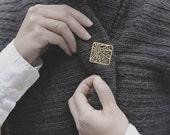 Paris Brooch, City Brooch, Gold Brooch / Silver Brooch of Paris, Geometric Brooch, Map Brooch