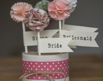 Fabric Wedding Table Place Cards