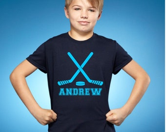 Hockey Youth Shirt or Bodysuit With Personalized Name