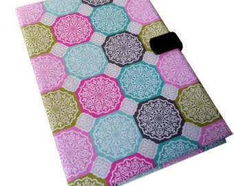Samsung Kindle Paperwhite Kobo Nook Tablet Case Ipad Case Octagon quilt Print i Pad stand up Magnetic Closure