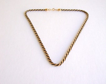 Vintage Nautical Rope Necklace : Knotted Sail vintage Trifari nautical rope necklace