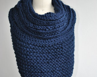 Huntress Armor Cowl- Capital Hoodie Scarf Post Apocalyptic Knitting Sweater Cowl Blanket Scarf Vest by Kysaa.