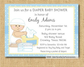 diapers and wipes baby shower invit ation diapers baby shower invite