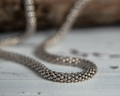 Sterling Silver Chain Necklace-Short Chain Necklace-Ball Chain Necklace-Layer Necklace