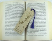 Zodiac Aquarius Wood Bookmark - Horoscope Bookmark - Pyrography - BKInspired