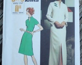 Simplicity 5320 1970s 70s  Dress Vintage Sewing Pattern  Size 10 Bust 32.5
