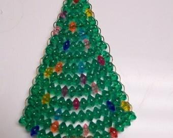 Beaded Christmas Ornaments Santa or Christmas Tree