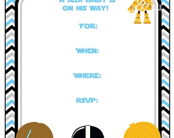Star Wars Baby Shower 5x7 Invitation, Boy Baby Shower, Instant  Download,Printable