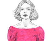 "Nastassja Kinski FINE ART Print, 11"" x 14"""