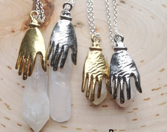 Healing Crystal Necklace,quartz crystal point, quartz crystal necklace, quartz crystal pendant, healing crystals and stones