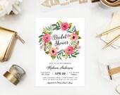 Wild Flowers Bridal Shower Invitation
