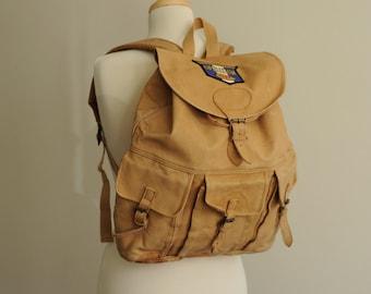 Vintage Leather Rucksack Backpack  / ITEM463