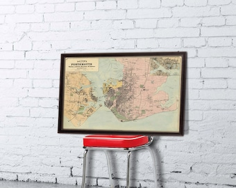 Portsmouth map (UK) - Old city map print - Fine  print - Giclee reproduction
