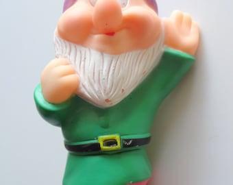 Vintage Snow White Grumpy Dwarf Squeak Toy