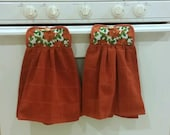 Christmas hanging kitchen towels set of 2