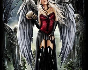 Dark moon gothic fantasy dark artprint