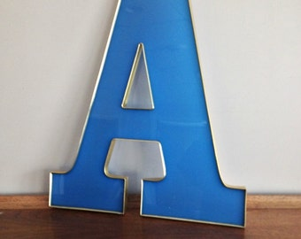 Large Salvaged Wall Letter A Reclaimed Marquee Sign Letter
