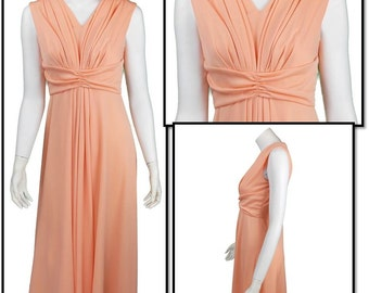 Peach Colored 1970's Vintage Dress