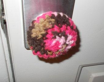 Pink Mocha Door Knob Cozy