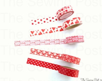 Washi Tape Set: Valentine Love