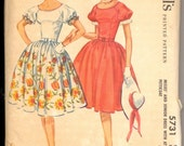 Vintage 1960's Women's Dress Pattern, McCall's 5731 Sewing Pattern, Size 13