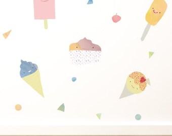 Ice Cream Dreams Removable Wall Sticker
