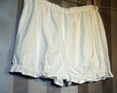 Steampunk Bloomers XL - 'Emilie' Lolita Hotpantaloons Pettipants Shorts Organic Fairtrade Cotton Eco