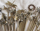Silver Charm Hair Stick Set - 29 Choices!