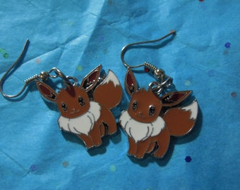 Pokemon, Eevee, Anime, Eevee Earrings, Pokemon Earrings,