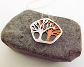 Tree Pendant in Silver & Copper - Mixed Metal Handcrafted Nature Jewelry