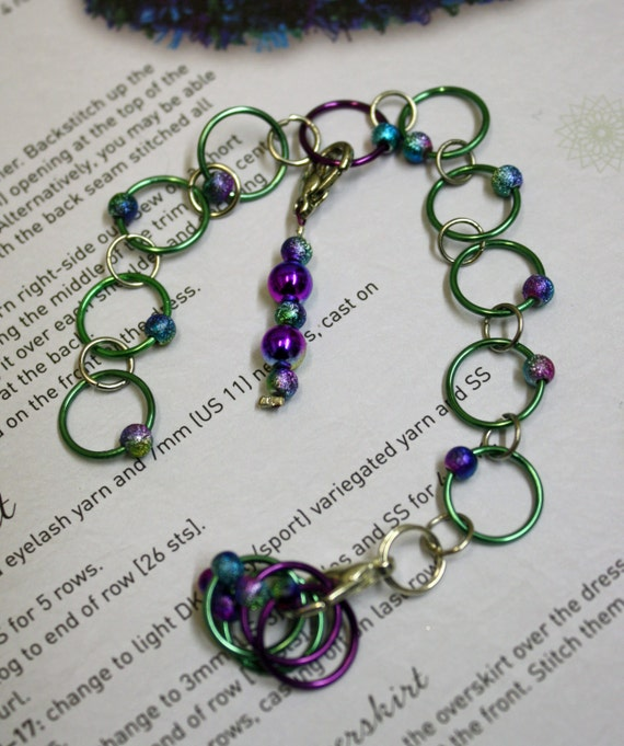 Knitting Stitch Marker Rings : Knitting row counter & stitch marker rings by CraftyCatKnittyBits