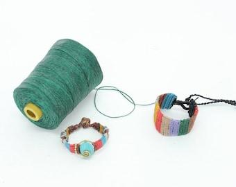 Green Wax String DIY Roll Handcraft Jewelry Accessories Materiel (DIY4521HTD-C11)